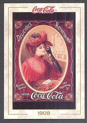 Year 1908: Coca-Cola Girl on a Poster, 1993 Coca-Cola Series 1 Card #12