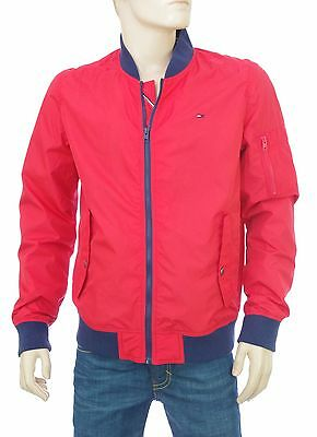 b984390a37d9a TOMMY HILFIGER Blouson Bomber rouge nylon BOMBER HIGH RISK RED taille XL  DM01770