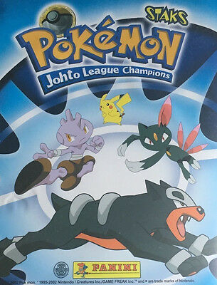 POKEMON STAKS JOHTO LEAGUE CHAMPIONS by PANINI - CHOOSE YOUR STAKS FRIDGE MAGNET