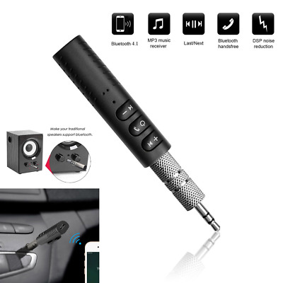 Wireless 3.5mm Car Bluetooth V4.1 Music Receiver Speaker Adapter AUX