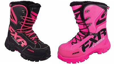 "Fxr ""x-Cross"" Boots Snowmobile Water-Resistant -40C Womens - Pick Size & Color"