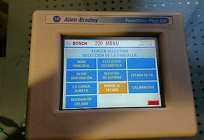 Allen Bradley 2711P-T6C20D /A PanelView Plus 600 Color Touch