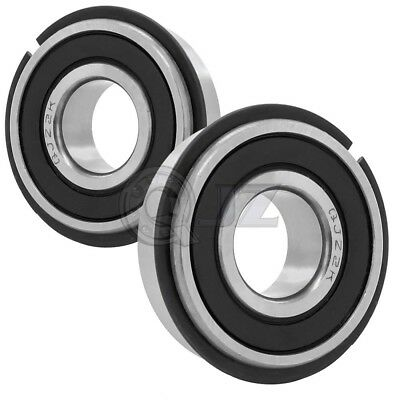 6202-2RSNR Sealed Snap Ring Bore 15mm x 35mm x 11mm Ball Bearings with C Clip