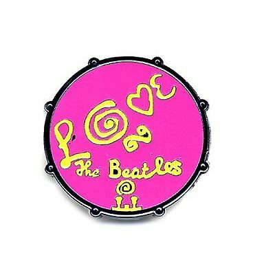 The Beatles Drum Love Logo Pink new Official Metal Pin badge One Size