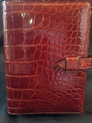 Charles Underwood Hand Tanned Brown American Alligator Portfolio Writing Pad