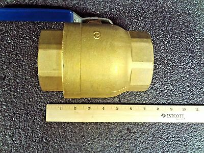 "Milwaukee Brass FNPT x FNPT Ball Valve, 3"" Pipe Size,BA-475BLL, (MG)"