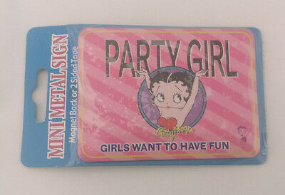 Vandor Betty Boop Mini Metal Sign Magnet with Adhesive Back Licensed 45002 New