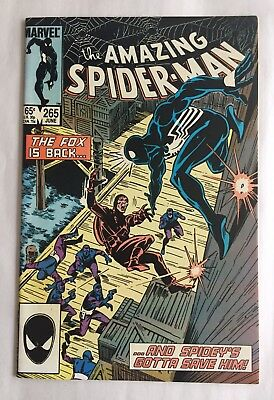 "Amazing Spider-man #265 Marvel 1985 1st App Silver Sable  ""NICE"""