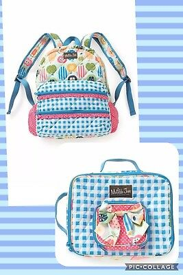 NWT Matilda Jane Study Group Backpack & All Packed Up Lunchbox  Matching Set '17