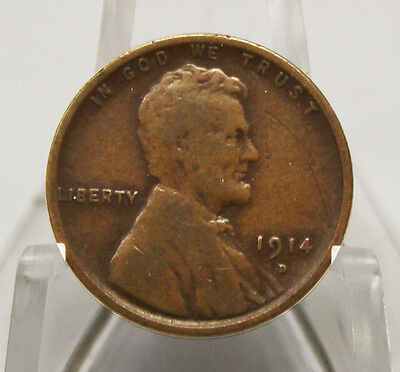 1914 D Wheat Cent Very Good Condition - KEY DATE (401)