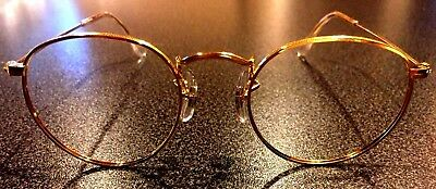 New Vintage B&L Ray Ban gold John Lennon Small round 1574  with 47mm lens