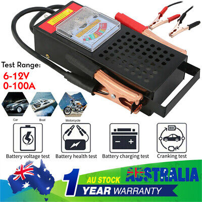 Battery Load Charging Analyzer System Tester Drop Car Boat Auto 100Amp 6V/12V
