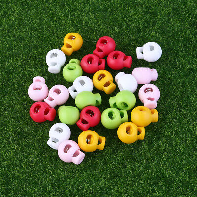 25pcs Single Hole Cord Stoppers Lock Round Toggle Stop End for Bags Clothes