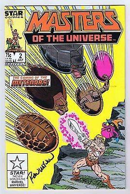 Masters of the Universe #2 Signed w/COA Ron Wilson 1986 Vintage Marvel/Star PWC