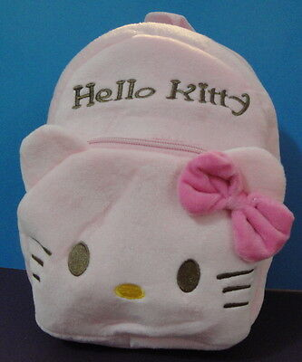 Hello Kitty Plush Back Pack w/ 2 zipper compartments Great for School
