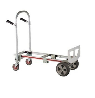 Magliner Gemini Jr Convertible Hand Truck GMK16A with Small Nose and Round Tires