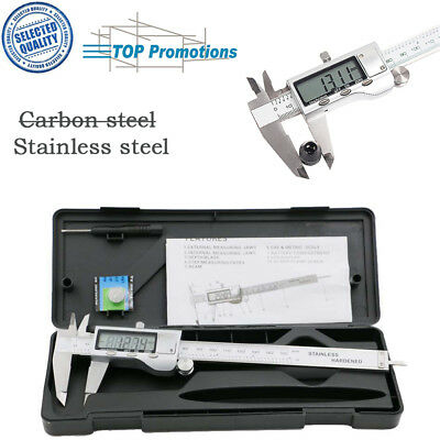 Electronic Stainless Steel LCD Gauge Micro Digital Vernier Caliper Measure Tool