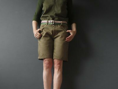 80s Khaki Drill Pleated Shorts Medium Buy 3+ items for FREE Postage