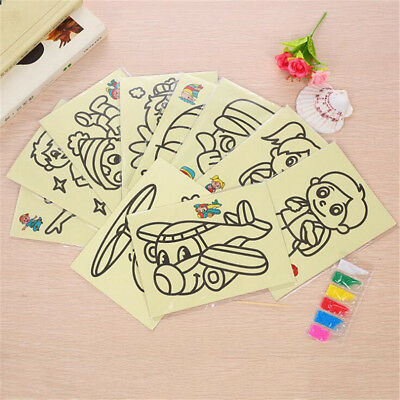 3/6/10X Magic Scratch Art Painting Paper With Drawing Stick Kids Toy Xmas Gift