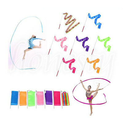 4M Art Gymnastic Ballet Streamer Twirling Rod Stick Wand Dance Ribbon Rhythmic