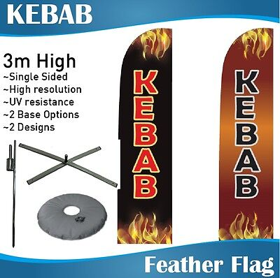 3m Outdoor KEBAB Flag Feather Banner Feather Flag with Base