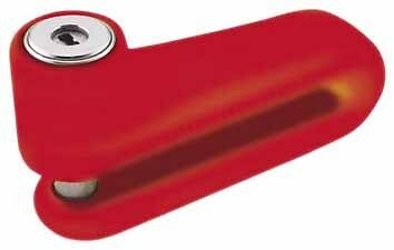 BULLY LOCKS Disc Locks for Motorcycles Red #13-2228