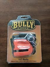 BULLY LOCKS Disc Lock for Motorcycles 5.5mm Li'l Bully Orange  #13-2232