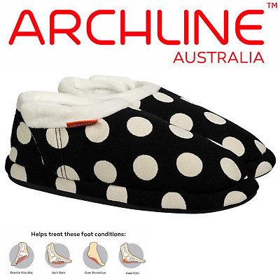 ARCHLINE Orthotic Slippers CLOSED Arch Scuffs Medical Pain Moccasins Relief
