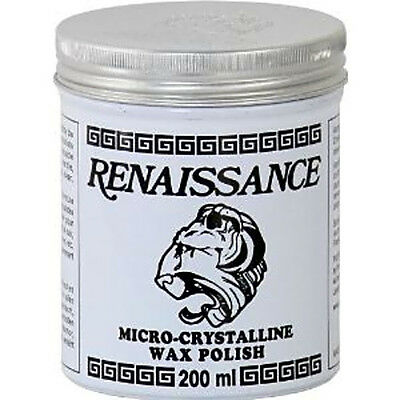 Renaissance Wax 200ml (7oz) Micro-Crystalline Wax Polish Can furniture leather..
