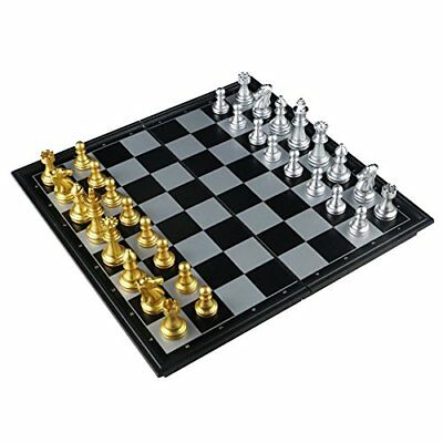 Chess Set Magnetic Folding Chess Board Game Set for Children 6 Years ,25 25cm