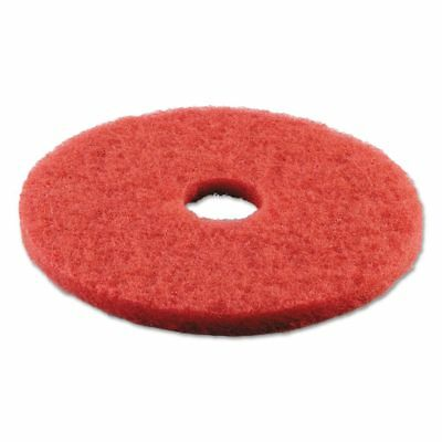 "Boardwalk Standard Buffing Floor Pads, 18"" Diameter, Red, 5/Carton - BWK4018RED"