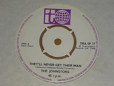 "Johnstons ""They'll Never Get Their Man"" Transatlantic 45"