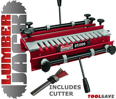 """Lumberjack 300mm TRADE Dovetail Jig 1/2"""" Template FREE Router Cutter RRP £12.95"""