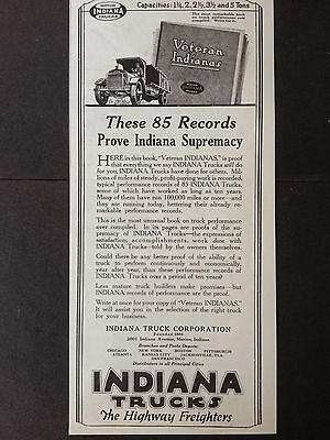 Vintage 1920 Ad (E17)~Indiana Truck Corp. Marion, Indiana The Highway Freighters