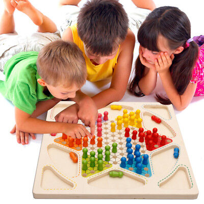 1 PC Children's Building Checkers Multi-Piece Blocks Puzzle Flying Chess