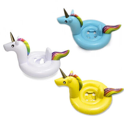 Baby Seat Float Swimming Ring Inflatable Summer Water Fun 3 Colors New Unicorn