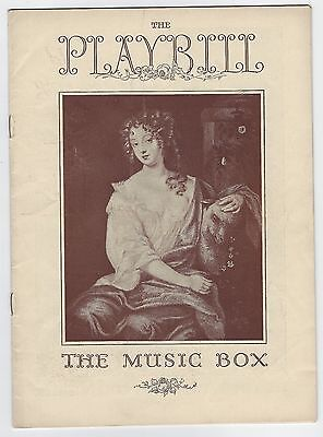 "1939 Playbill ""From Vienna"" The Music Box"