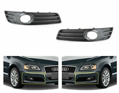 New Audi A3 2008-2012 Lower Bumper Grill Fog Light Trim Set Pair Left+Right