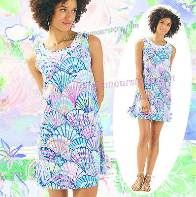 d899181e2e NWT Lilly Pulitzer Stella Serene Blue Oh Shello Lace Detail Easy Shift Dress