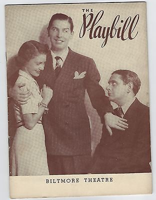 """1940?  Playbill """"See My Lawyer"""" Biltmore Theatre with Milton Berle"""