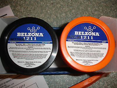 Belzona 1211 E-Metal Fast curing repair composite ,Base and solidifier,