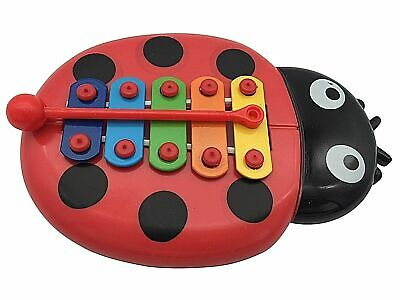 Beetle Xylophone 5-Note NEW Musical Toy Baby Child Wisdom Development UK SELLER