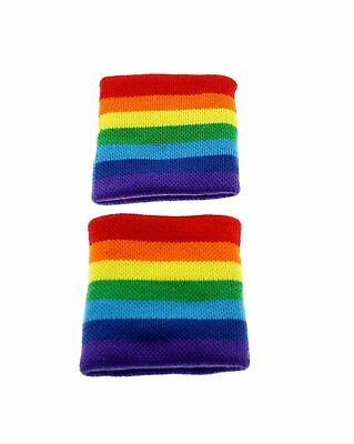 Zac's Alter Ego® Pair of Rainbow Sweatbands / Wristbands