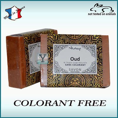 Oud body and face soap colorant free arabian oudh with red clay 100gr bar