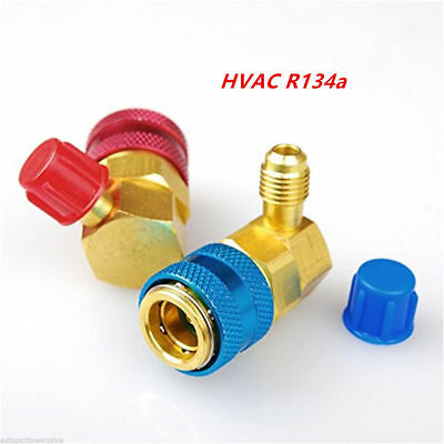 2x Car AC R134A Air Condition Quick Coupler Adapter High Low Pressure Coupler