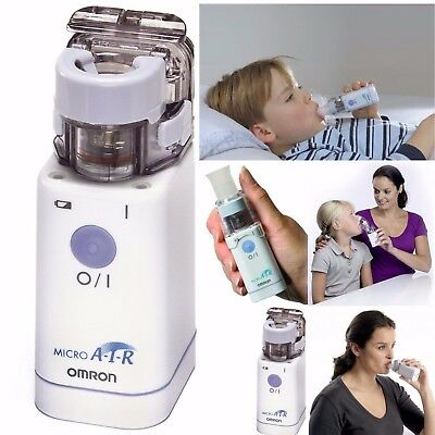 Omron MicroAir NE-U22 Portable Handheld Travel Pocket Compressor Nebuliser +CASE