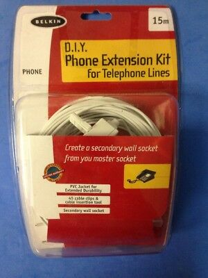 D.I.Y Phone extension kit for telephone lines. 15m