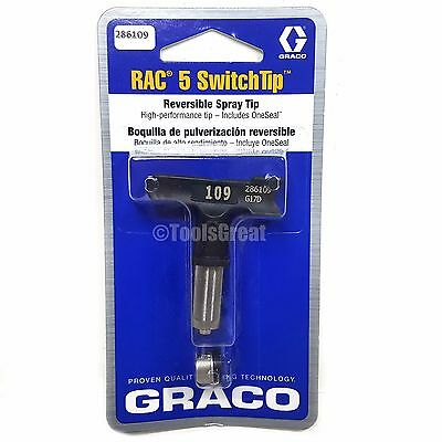 Graco Rac 5 286109 Switch Tip Paint Spray Tip Size 109