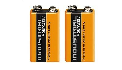 Duracell Industrial 9V Battery - Pack of 2 - Alkaline Batteries MN1604 Twin Pack