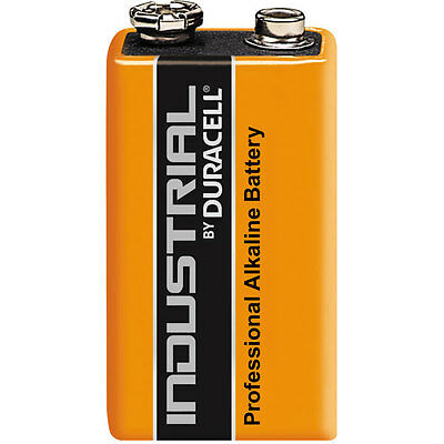 Duracell Industrial 9V Battery - Pack of 1 - Alkaline Batteries MN1604